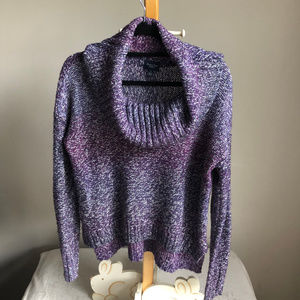 AEO Purple Chunky cowl neck sweater